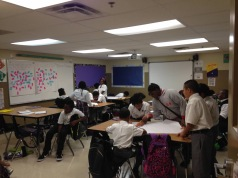 students preparing to teach a review for the state assessment