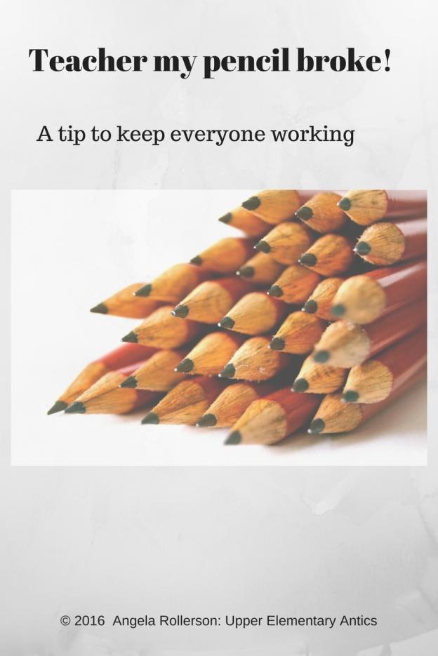 Teacher my pencil broke