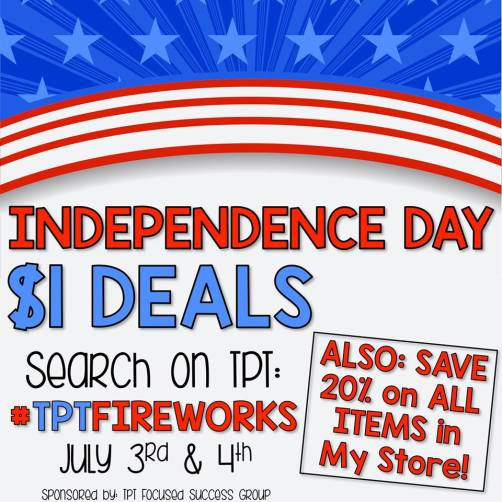 20 % off independent day sale